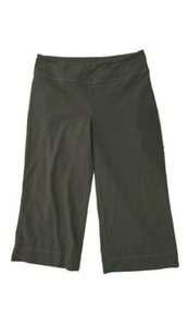 Lululemon Lululemon 810 Stretch Wide Leg Workout Crop Pants Olive Green Hidden Key Pocket
