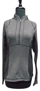 Lululemon Lululemon Gray And Black Stretchy 1 Zipper Athletic Top 2907a
