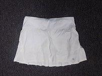 Lululemon Lululemon Ivory Athletic Skirt W Short Lining Tall Polyester Blend 192a