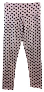 Lululemon Lululemon Athletica Pink Black Dot Cut Hem Crop Leggings