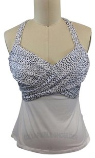 Lululemon Lululemon Athletica Black White Leopard Wrap Bodice Workout Tank