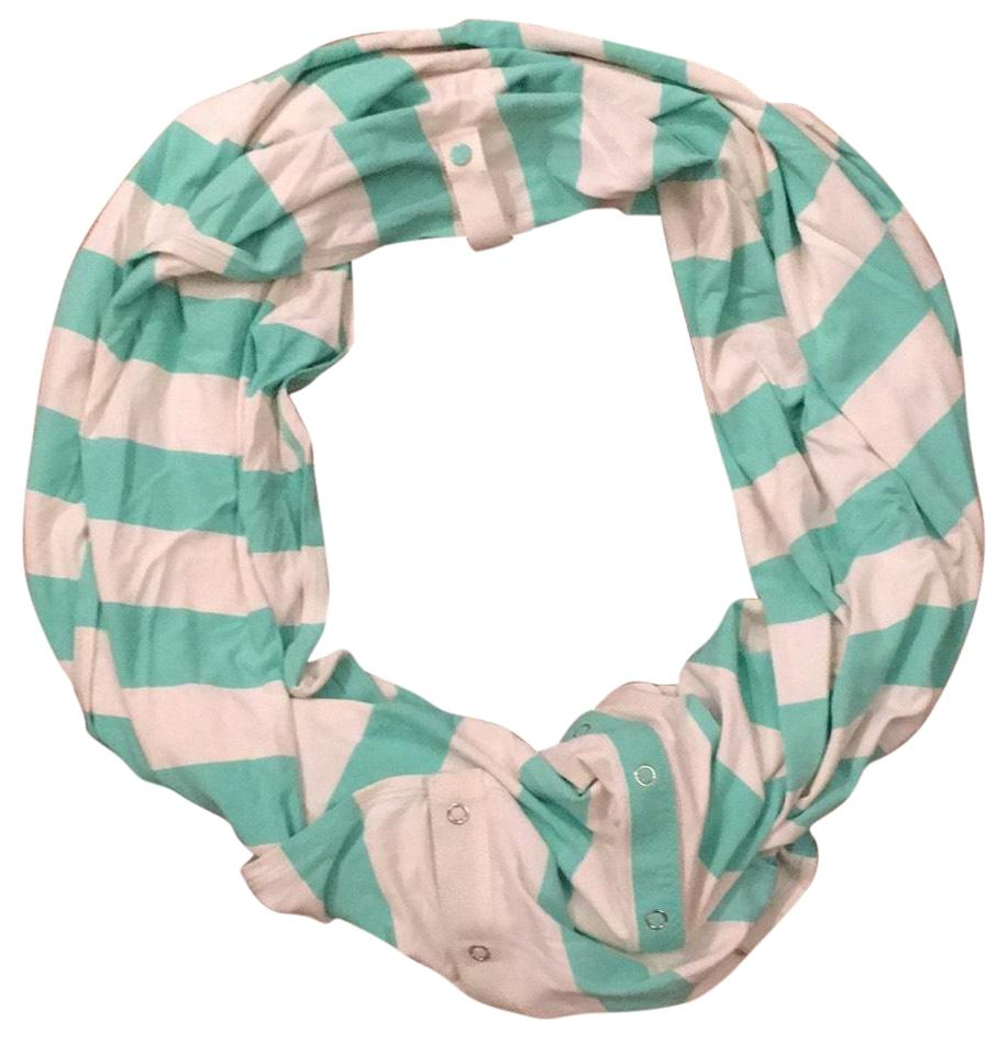 Lululemon Sea Foam And White Vinyasa Scarf Wrap Tradesy