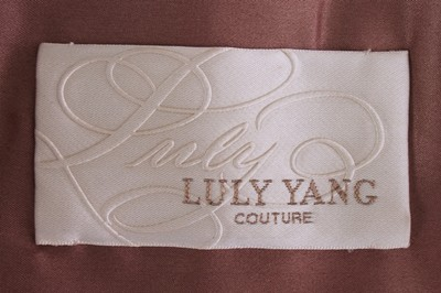LULY YANG COUTURE LULY YANG COUTURE 2 PIECE SKIRT SUIT CHAMPAGNE BLUSH OMBRE SIZE 2