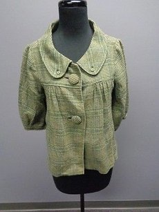 Lux Wool Blend Casual Houndstooth Button Front Jacket Sm7236 Cape