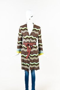 M Missoni Brown Green Pink Knit Sweater