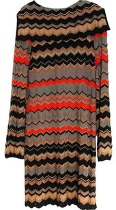 M Missoni Chevron Knit Stretchy Dress