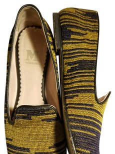 M Missoni Navy/Gold Flats