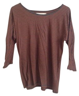 Madewell T Shirt Rust red and heather grey