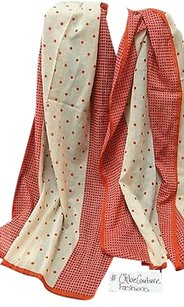 Madewell Madewell,Jcrew,Designer,Cream,Red,Polka,Dot,Summer,Thin,Cotton,Scarf