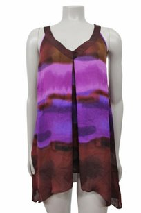 Madison Marcus Salud Tunic Brown Top Purple Brown