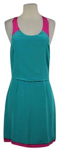 Madison Marcus Womens Teal Summer Silk Sleeveless Casual Dress