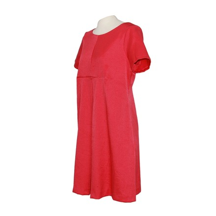 Madrilena Textured Red Aline Empire Waist Dress Us 12 48 Eu #20039389 - low-cost