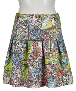 Maeve Womens Printed Skirt Green