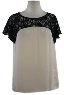 Maeve Womens Lace Top Beige