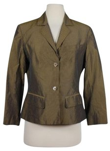 Magaschoni Mag Womens Pinstripe Taupe Jacket