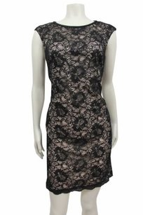 Maggy London short dress Black Beige Lace on Tradesy