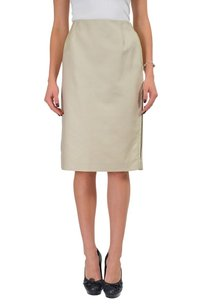 Maison Margiela Straight Pencil Skirt Beige
