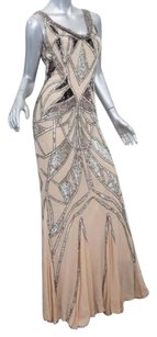 Mandalay Womens Nude Silk Dress