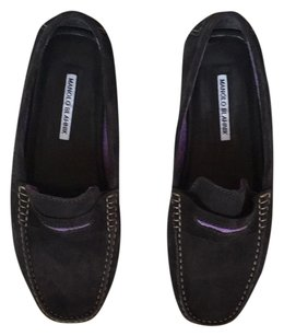 Manolo Blahnik Black/Purple Flats