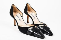 Manolo Blahnik Suede Black Pumps
