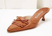 Manolo Blahnik Brown Leather Pumps