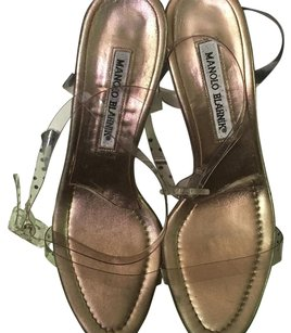 Manolo Blahnik Clear/platinum Formal