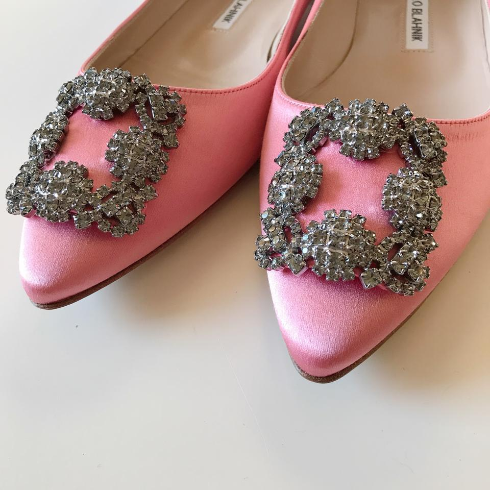 f8de8bd49f09 ... cheapest manolo blahnik hangisi crystal hangisi size 36.5 pink satin  flats. 123456789101112 4ffdb ae36d