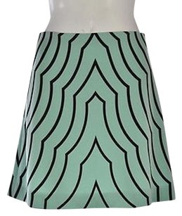 Marc by Marc Jacobs Womens Green Printed Above Knee Casual Skirt Multi-Color