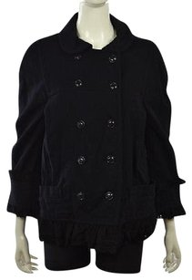 Marc by Marc Jacobs Womens Navy Basic Textured Wool Casual Coat Multi-Color Jacket