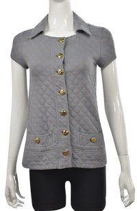 Marc by Marc Jacobs Womens Slate Blue Cardigan Quilted Sweater