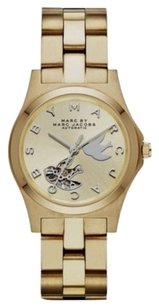 Marc by Marc Jacobs Henry Midsized Icon Automatic Dove Dial Watch MBM9712