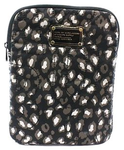 Marc by Marc Jacobs Marc By Marc Jacobs Black Beige Gold Nylon Cheetah Print Tablet Case -