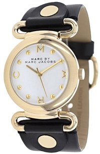 Marc by Marc Jacobs Marc by Marc Jacobs Women's Molly Black Leather Strap Watch 36mm MBM1304