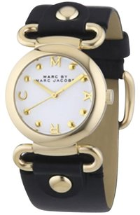 Marc by Marc Jacobs Marc Jacobs MBM1309 Ladies Molly Black Leather Strap Watch