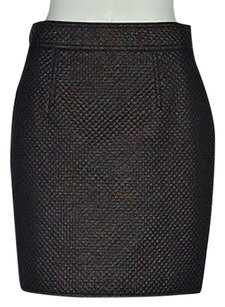 Marc by Marc Jacobs Womens Black Textured Pencil Metallic Above Knee Skirt Multi-Color