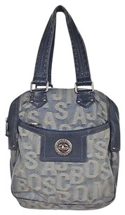 Marc by Marc Jacobs Womens Monogram Handbag Satchel in Blue