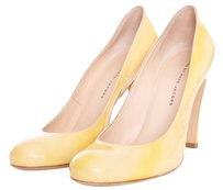 Marc by Marc Jacobs Womens Leather Patent Leather Round Toe Yellow Pumps