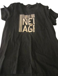 Marc Jacobs 'new Age' Graphic Pocket Tee T Shirt Black