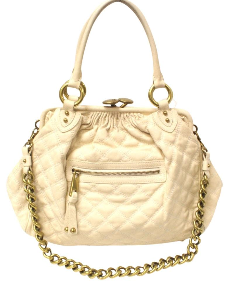 Cream Stam Satchel by Marc Jacobs, Used from Private