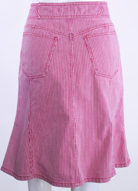 Marc Jacobs Denim Skirt RED AND WHITE