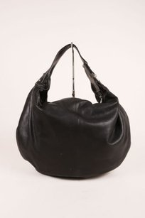 Marc Jacobs Black Silver Tone Hobo Bag