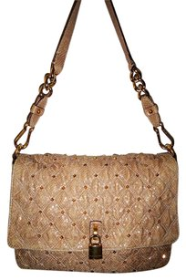 Marc Jacobs Leather Python Studded Gold Hardware Italian Shoulder Bag