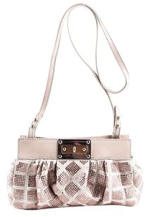 Marc Jacobs Leather Quilted Crystal Embellished Evening Shoulder Bag