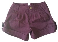Marc Jacobs Polka Dot Cuffed Shorts Burgundy