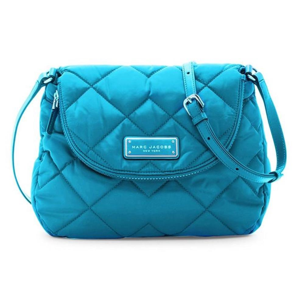 Marc Jacobs Quilted Messenger Turquoise Nylon Cross Body