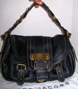 Marc Jacobs Italy Leather Double Pocket Flap Satchel in Blacks