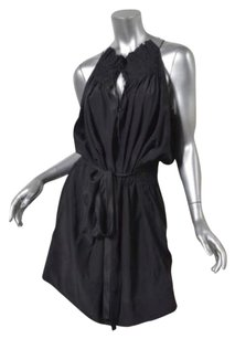 Marc Jacobs short dress Black Womens Silk Sleeveless Smocked Belted Shift on Tradesy