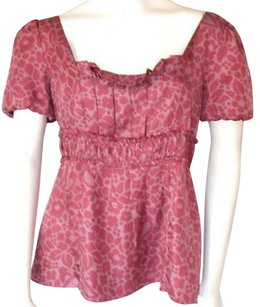 Marc Jacobs Silk Floral Top Pink