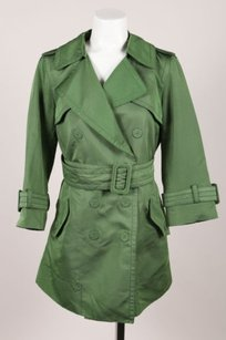 Marc Jacobs Green Silk Belted Trench Coat