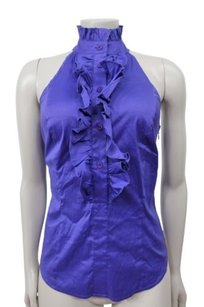 Marciano Ruffle Neck Top Purple